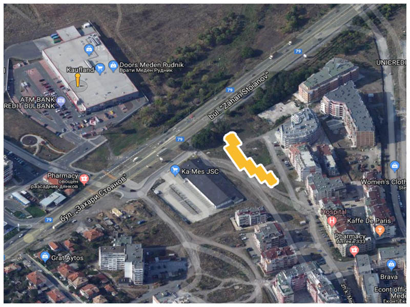 Apartamenti V Meden Rudnik Ot Burgos Stroj Karta